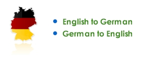 English to German, German to English translations